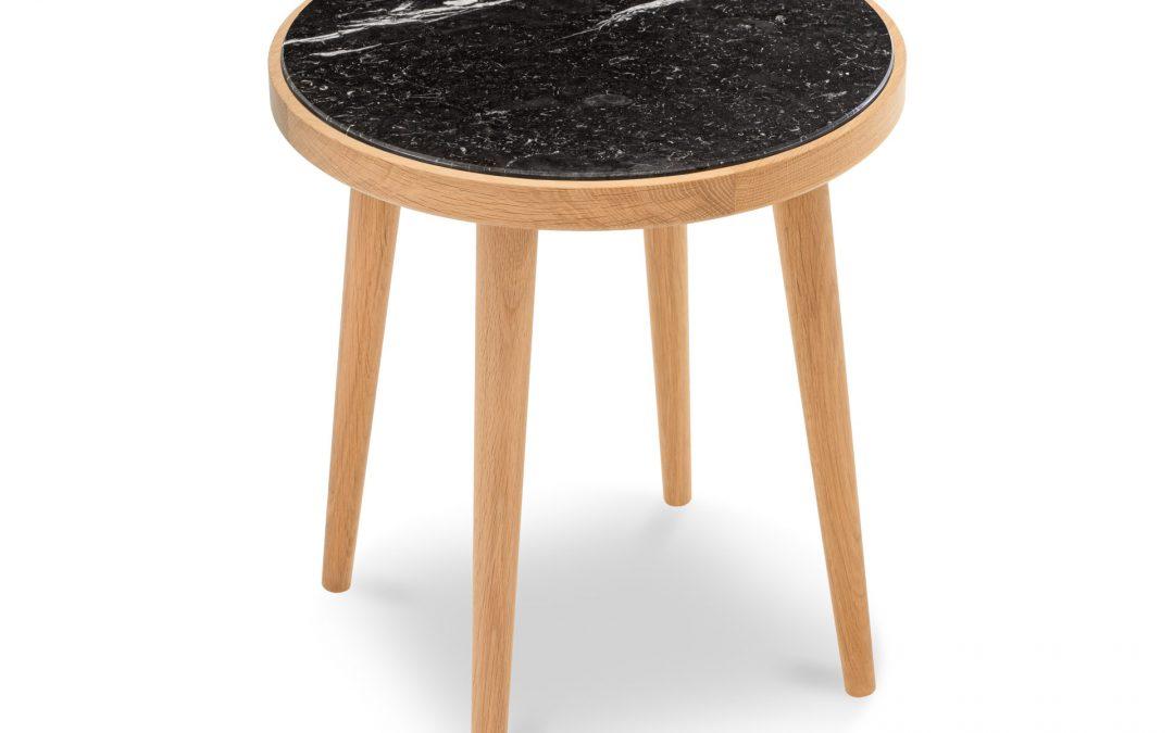 Stolik kawowy Amaranth z kamieniem